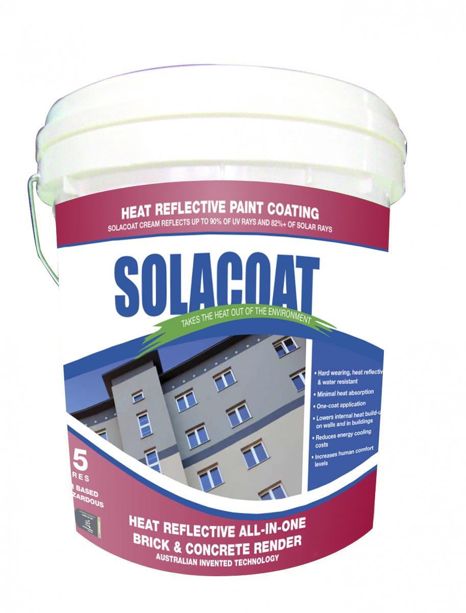 Solacoat All In One Heat Reflective Brick Concrete Render Description Sunteks International